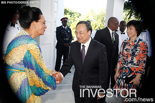 Dame Marguerite greets Chinese Ambassador