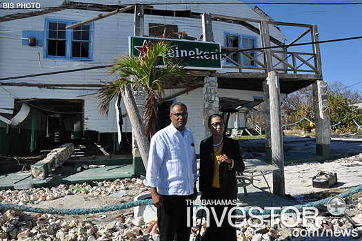Governor General Dame Marguerite Pindling with Minister for Grand Bahama Dr Michael Darville