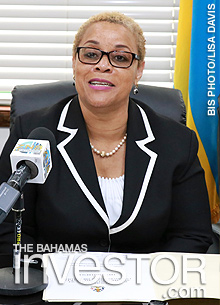 Minister of Financial Services and Local Government Hope Strachan