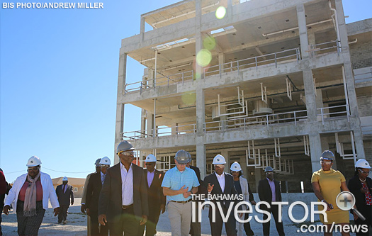Prime Minister Hubert Minnis tours  PharmaChem's $180 million expansion