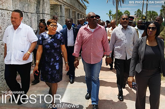 PM, Cabinet Ministers tour Grand Lucayan resort