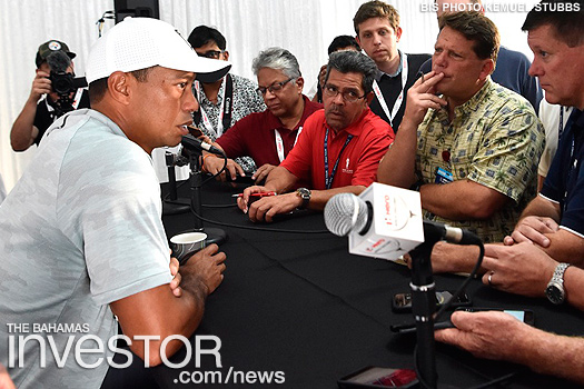 Tiger Woods hosts Hero World Challenge press event