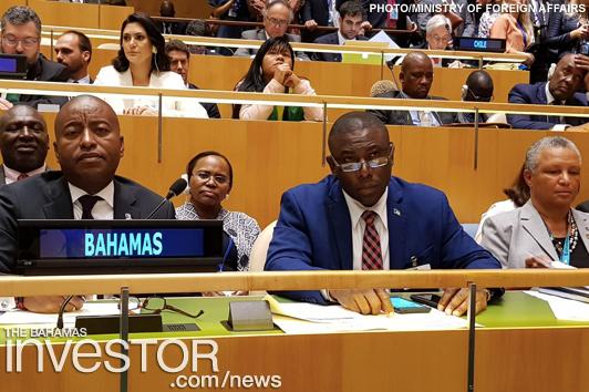 Bahamas delegation at UN Assembly