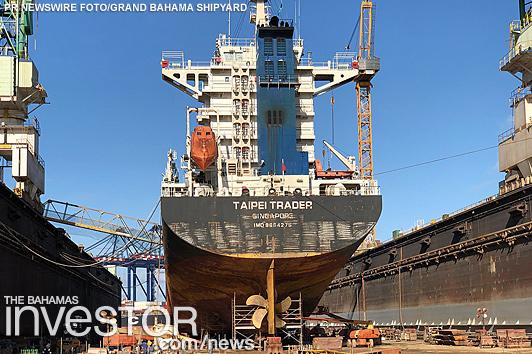GB Shipyard dry-docks first ship following Hurricane Dorian