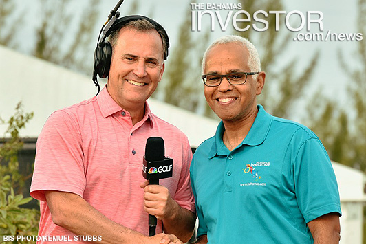 Tourism Minister promotes golfing in The Bahamas