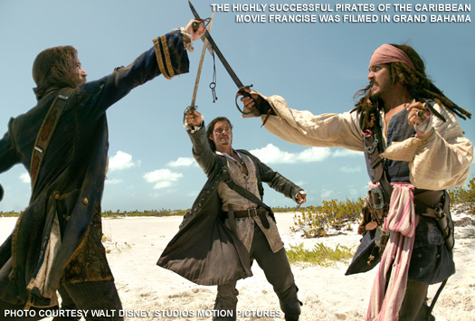 Pirates of The Caribbean on location Grand Bahama