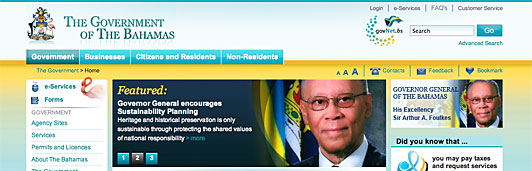 Bahamas government launches new portal website