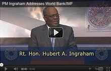 PM Ingraham addresses World Bank Group and IMF meeting - video