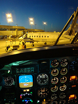 Night Instrument of Beechcraft 1900D