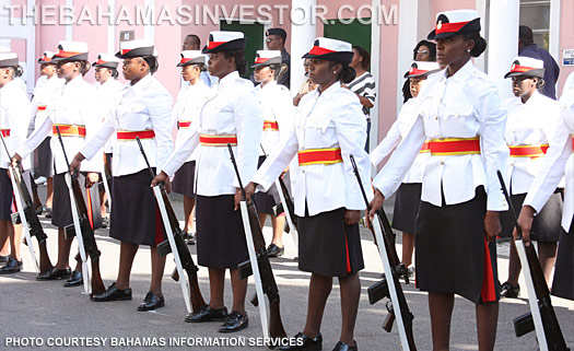 Female Bahamian Police officers