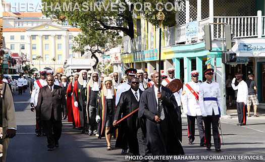 The Procession on Bay Street. Nassau, The Bahamas