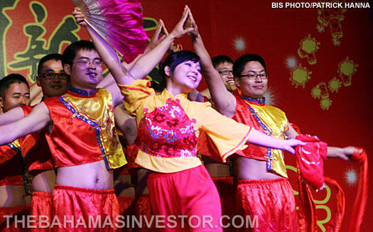 Dancers perform during the Chinese New Year Celebration