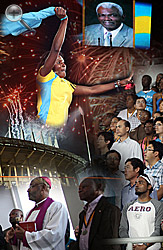 More than 15,000 people turned out February 25 to be a part of the official opening of the new Thomas A Robinson National Stadium.