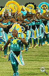 A traditional Junkanoo rush-out livened up the ceremony.