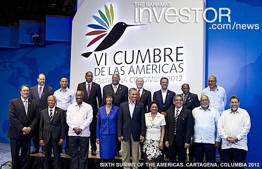 Bahamas Deputy Prime Minister Brent Symonette, US President Barack Obama
