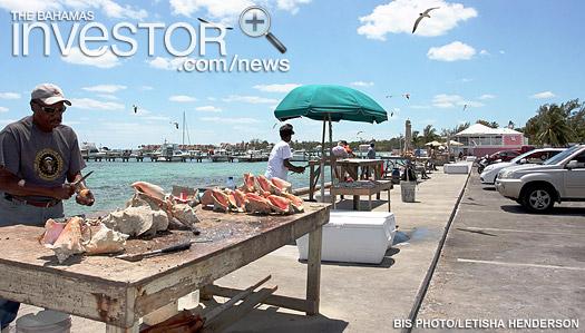 fish vendors tending their wares