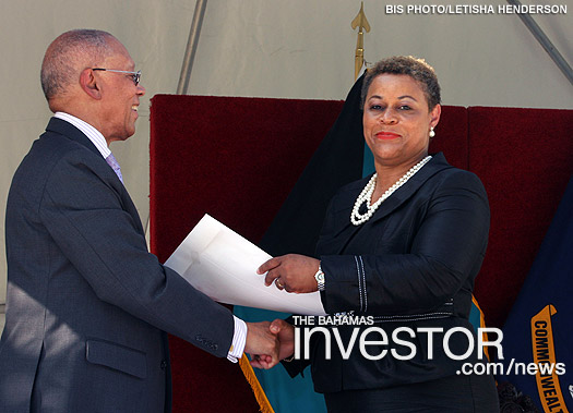 Hope Strachan sworn in as Minister of State in the Ministry of Transport and Aviation