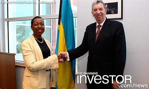 Sir Alan Collins, director general and chief executive of the Commonwealth Business Council paid a courtesy call at the Ministry of Foreign Affairs