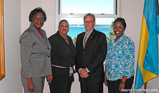 An executive team from the Bahamas Institute of Financial Services