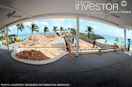 Work progressing at Cove Eleuthera Resort (BIS Photo)