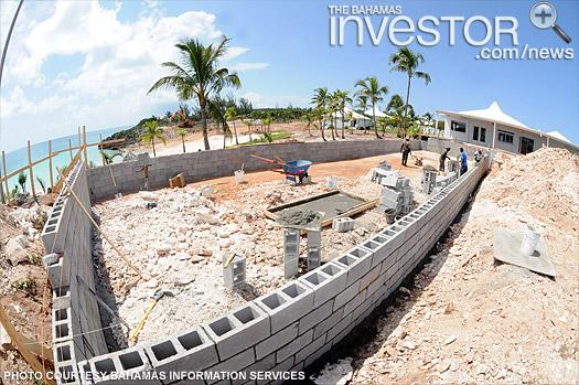 Work progressing at Cove Eleuthera Resort (BIS Photo)
