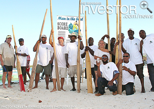 Participants of the Sands Man in the Boat Regatta pose