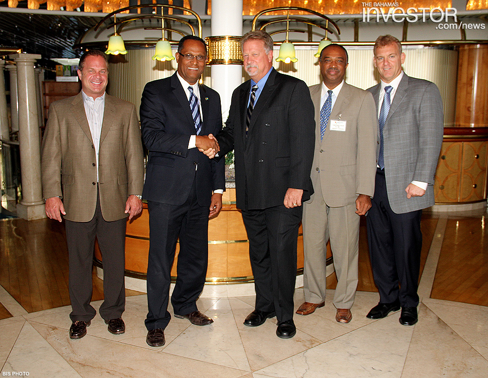 Gb Minister Meets With Celebration Cruise Line Executives The Bahamas Investor