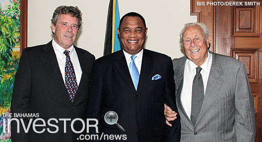 Prime Minister Perry Christie welcomes owners of Bahamian Breweries