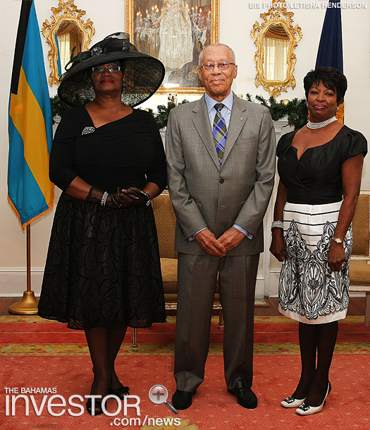 Alma Adams, Sir Arthur Foulkes and Lady Foulkes