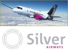 Silver Airways Logo + SAAB