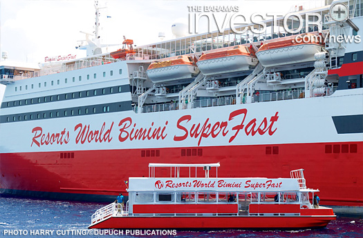 Bimini SuperFast Cruise Ship on its inaugural voyage day
