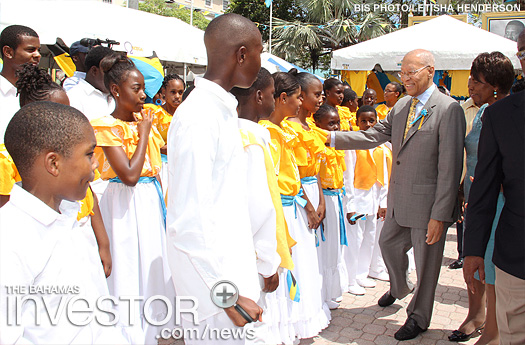 Governor General Sir Arthur Foulkes meets the National Youth Choir
