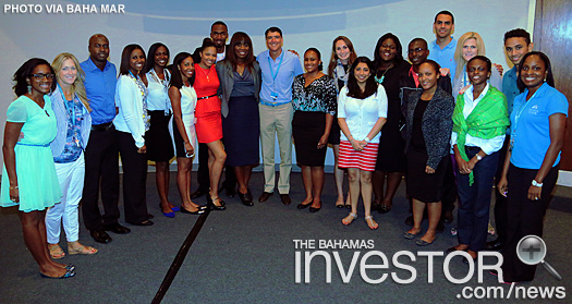 Baha Mar CEO Sarkis Izmirlian congratulates college students