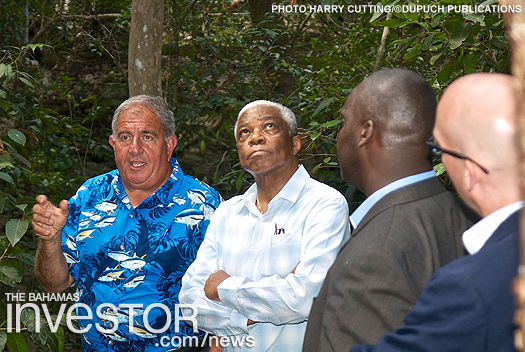 Pericles Maillis conducts tour of the Primeval Forest National Park for government officials