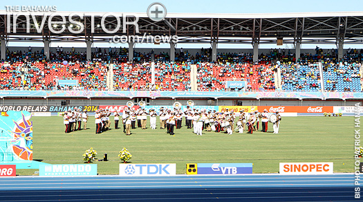 Royal Bahamas Police Force and Royal Bahamas Defence Force bands perform at the opening ceremony