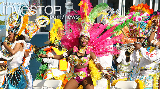 Junkanoo performers participate in the opening of the inaugural IAAF World Relays Bahamas