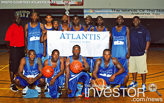 The Atlantis Paradise Island basketball team