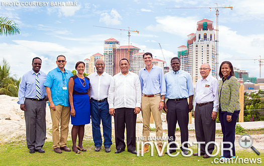 Prime Minister Perry Christie along with members of his Cabinet tour Baha Mar