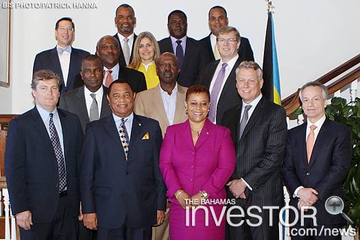 RBC Capital Markets executives paid a courtesy call on Prime Minister Perry Christie