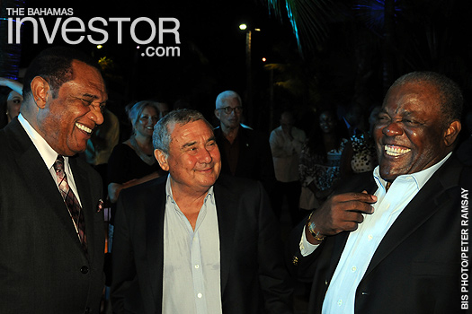 Perry Christie, Sir Sol Kerzner, and former Prime Minister Hubert Ingraham