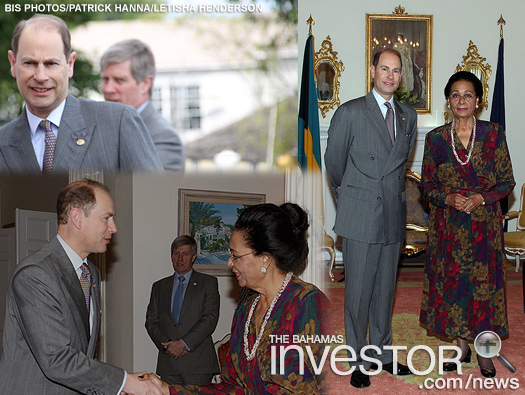 HRH Prince Edward arrives at Government House