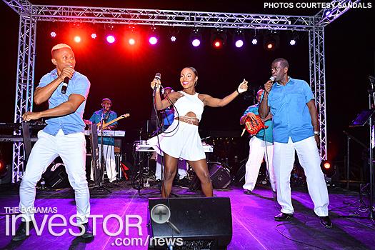 The popular Bahamian band Visage