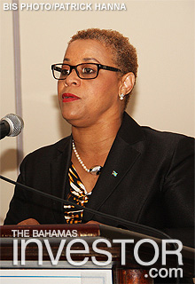 Minister of Financial Services Hope Strachan