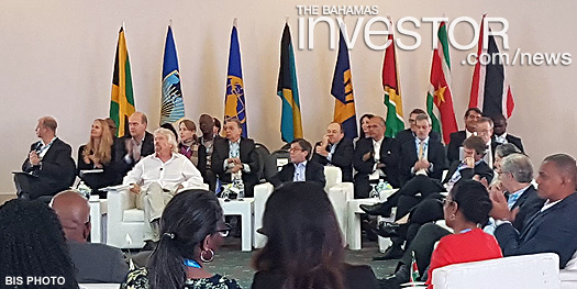 Deputy Prime Minister and Minister of Finance Peter Turnquest takes part in a panel discussion