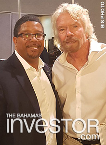 Deputy Prime Minister and Minister of Finance Peter Turnquest meets Sir Richard Branson