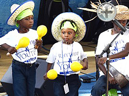 Members of the Rhythm Youth Band provide entertainment