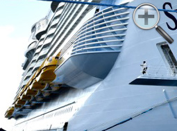 Symphony of the Seas sits docked